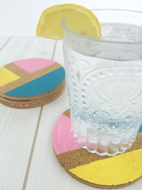 DIY-Color-Blocked-Coasters
