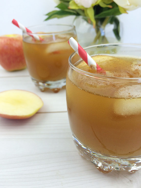 Maple Bourbon Cider Cocktail | Beauty and Blooms
