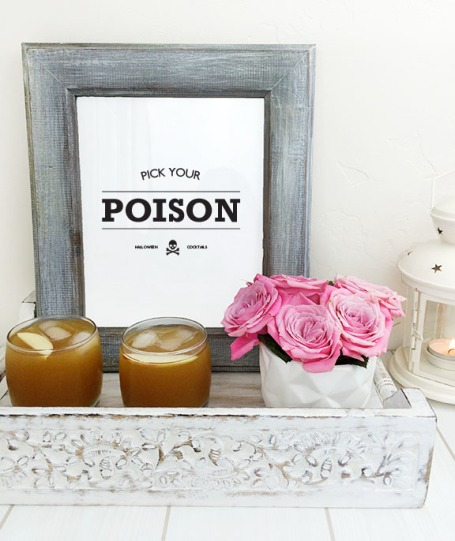 Halloween Bar Cart Printable *Free*   Beauty and Blooms