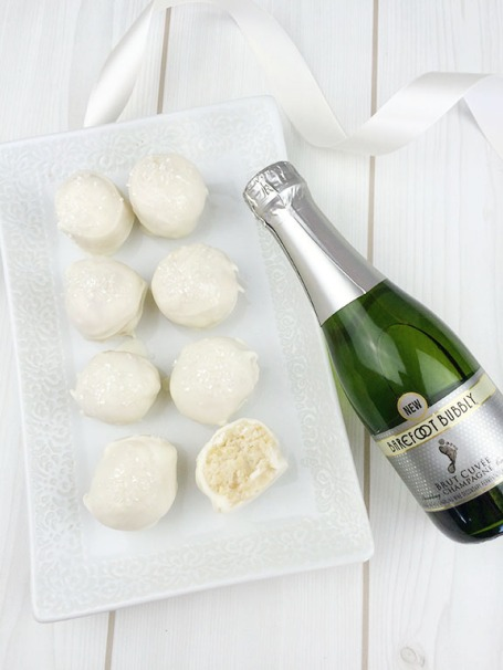 Champagne Cake Pop Bites