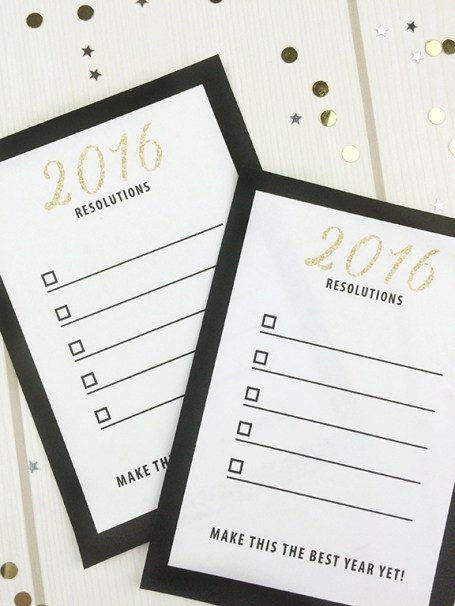 FREE Printable New Year Resolution Cards