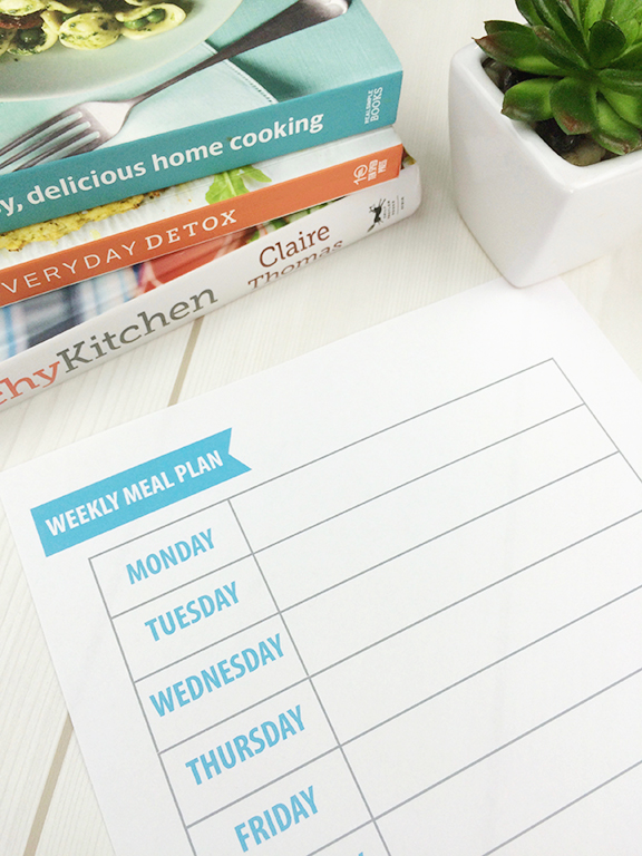 FREE Printable Weekly Meal Plan