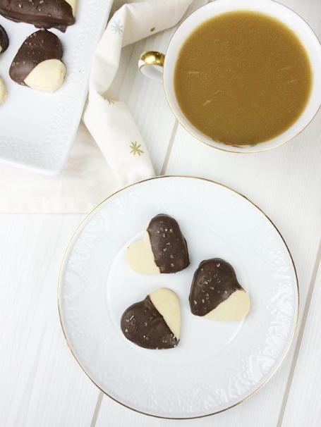 Salted Dark Chocolate Shortbread