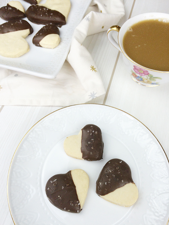 Salted Dark Chocolate Shortbread