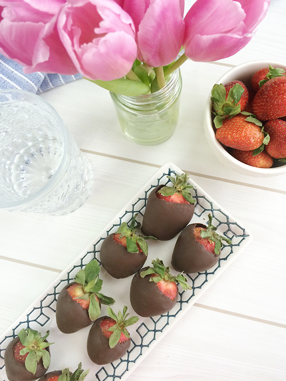 Champagne Infused Chocolate Covered Strawberries