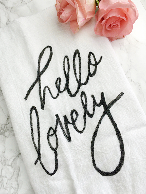 DIY Tea Towels! Perfect hostess gift or wedding present!