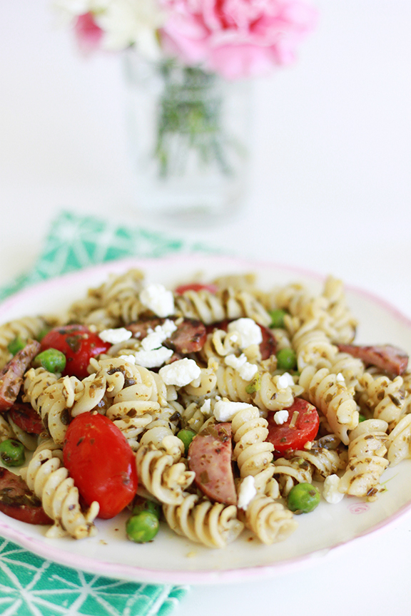 Pesto Pasta Salad. Perfect summer dish!