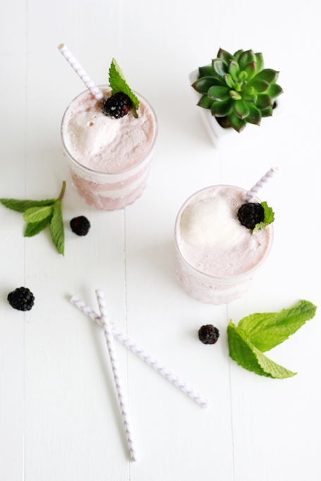 Blackberry Ice Cream Float