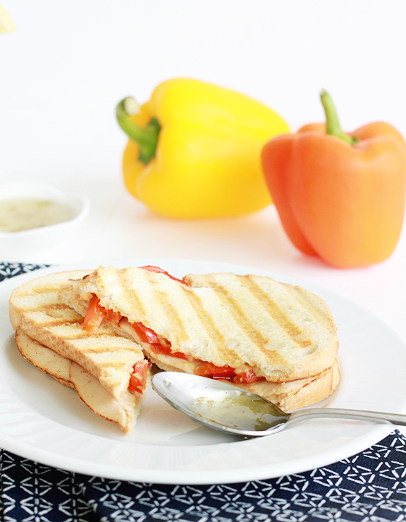 Hummus Panini with Pepper Jelly