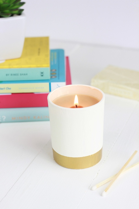 DIY Gold Dipped Candle