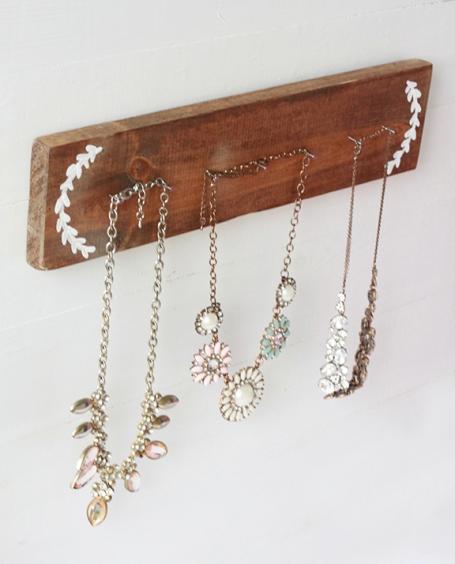 DIY Rustic Necklace Holder