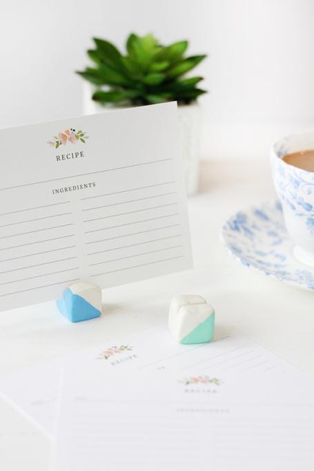 DIY Clay Recipe Card Stand