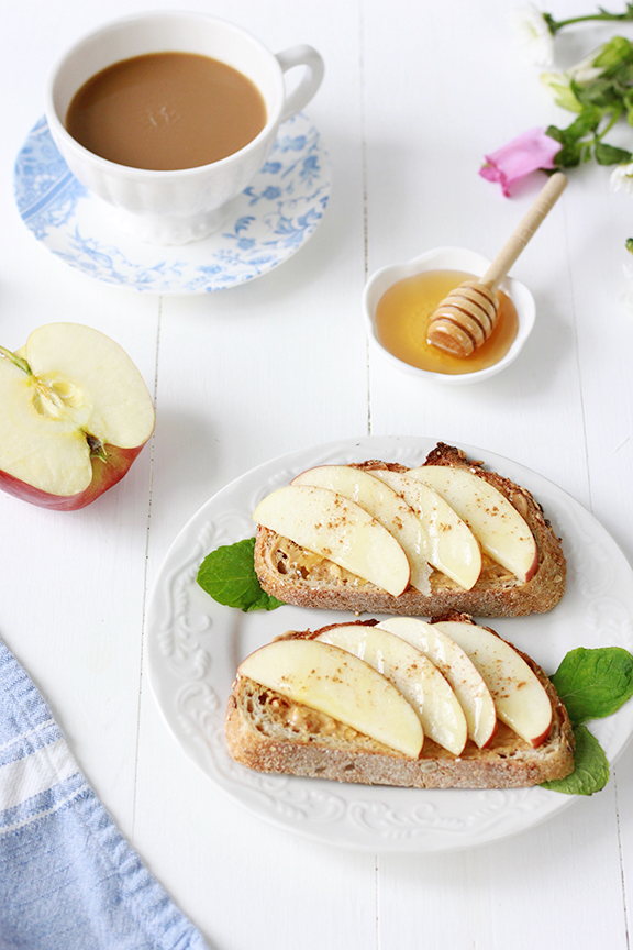 Cinnamon Apple Peanut Butter Toast