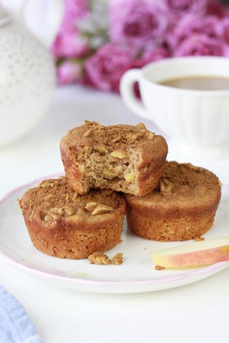 Cinnamon Apple Protein Muffins