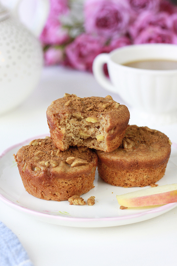 Cinnamon Apple Protein Muffins