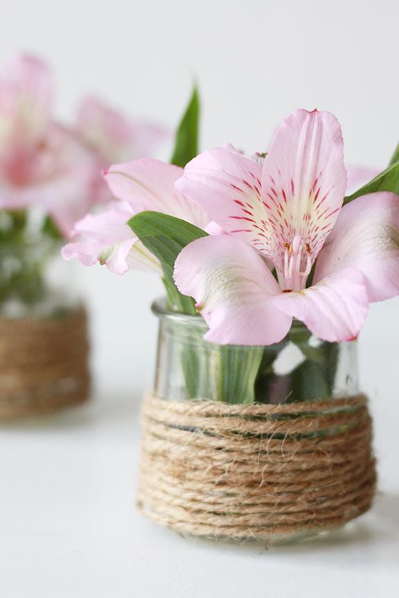 DIY Twine Flower Vase