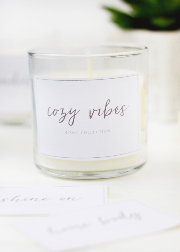 Free Printable Winter Candle Labels | Holiday Gift Idea | Hostess Gift Inspiration | Christmas Party Favors | Christmas Gift Idea | DIY Christmas Gift