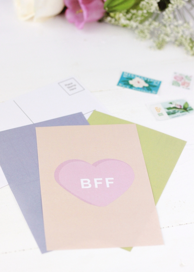 Free Printable Valentine's Day Postcards | Galentine's Day Cards | Printable Valentine's Day Cards
