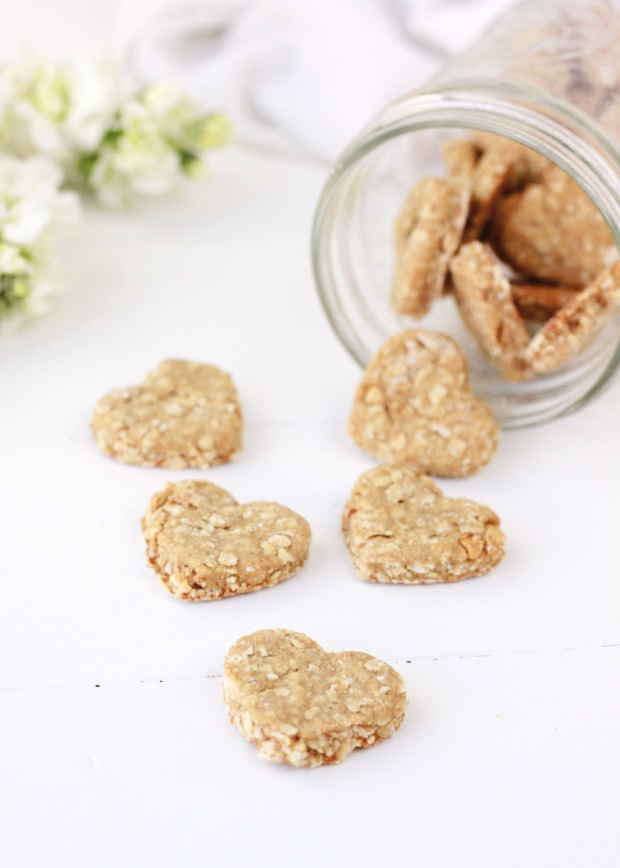 Homemade Peanut Butter and Banana Dog Treat Recipe | Easy Four Ingredient Dog Treat Recipe | Puppy Birthday Party Treat Idea | Dog Treat Inspiration | Puppy Valentine's Day Treat Idea